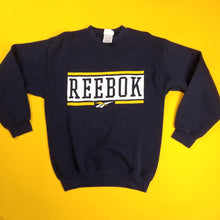 Load image into Gallery viewer, Vintage 90s Made in USA Navy Reebok Sweatshirt Mens sz M