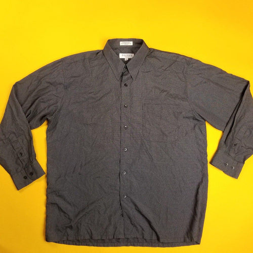 Balmain Paris sz L Dark Gray Button Up shirt