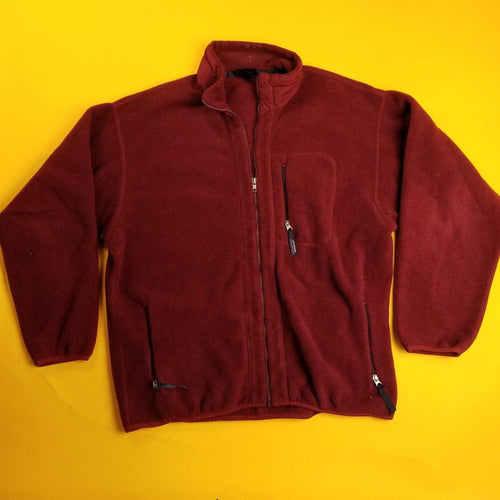Made in USA Patagonia Synchilla Maroon Fleece Mens sz XXL