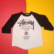 Load image into Gallery viewer, Vintage Y2K Stussy Baseball T-Shirt Mens sz M