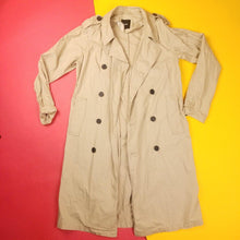 Load image into Gallery viewer, Y2K ASOS Tan Light Trench Coat OS
