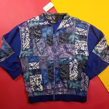 Load image into Gallery viewer, Vintage Made In USA Silver Threads Abstract Patchwork Jacket Mens sz L