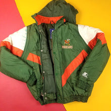 Load image into Gallery viewer, Vintage 90s Starter Miami Hurricanes Jacket Mens sz M