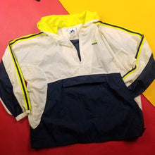 Load image into Gallery viewer, Vintage 90s Adidas Yellow and Navy Anorak Mens sz XL
