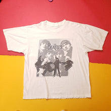 Load image into Gallery viewer, Vintage 90s The Beatles White Band T-Shirt Mens sz M