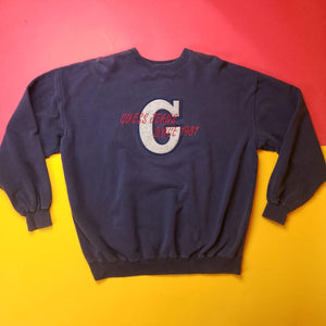 Vintage 90s Guess By Georges Marcian Navy Sweatshirt Mens sz XL