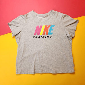Gray Nike Dri-Fit Training T-Shirt Womens Sz 2X