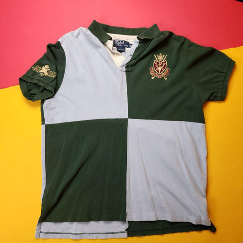 Vintage Polo Ralph Lauren  Coloblocked Tournament Crest polo Mens sz XL