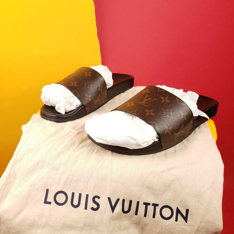 Louis Vuitton Monogram WaterFront Mule Slides Mens sz 9 UK