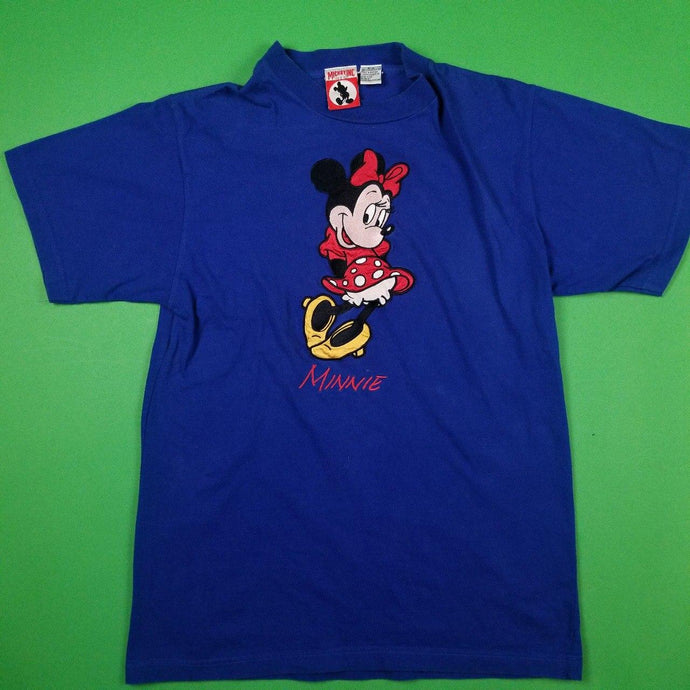 Vinatge Embroidered Minnie Mouse  T- Shirt Womens Sz S/M