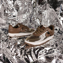 Load image into Gallery viewer, Brown Nike Air Force 1 Transparent See through sneakers Mens sz 11.5