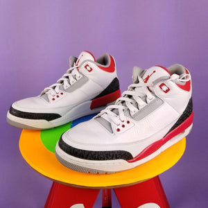 "2013 Air Jordan 3  Retro ""Fire Red"" Mens sz 10"