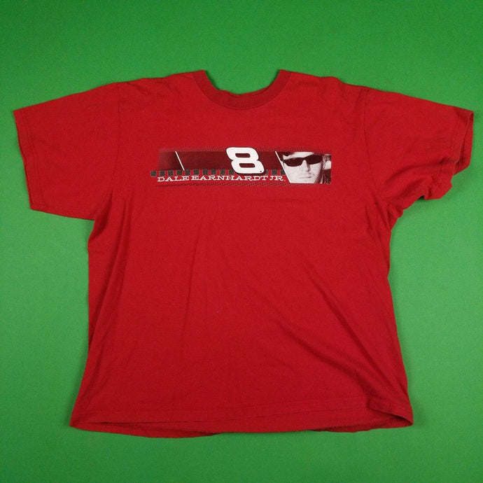 Vintage Y2K Red Dale Earnhardt Jr NASCAR T-Shirt Mens sz L