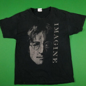 Vintage Beatles John Lennon Imagine Black T-Shirt Mens sz L