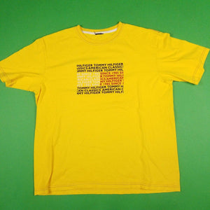 New age Tommy Hilfiger Yellow T-Shirt Mens sz XL