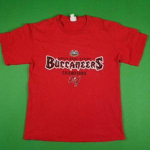 Vintage Y2K Tampa Bay Buccaneers NFL Super Bowl Champions Red T-Shirt Mens sz L