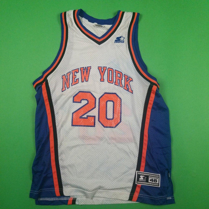 Vintage New York Knicks Allan Houston 20 Starter Jersey Mens sz M