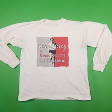 Load image into Gallery viewer, Vintage 90s Steel City White Longsleeve T-Shirt Mens sz M