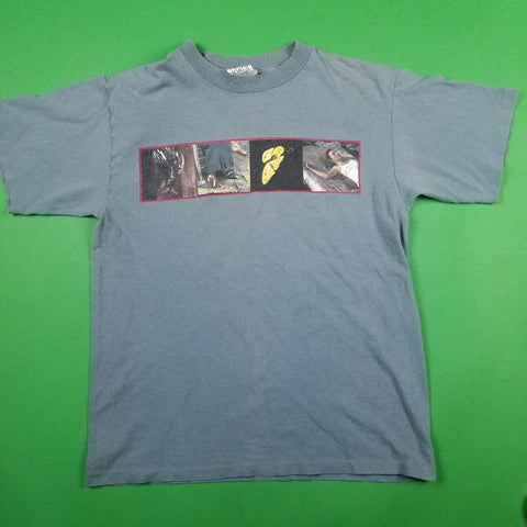 Vintage 90s Made in USA Wild Oats Grey Graphic T-Shirt Mens sz L