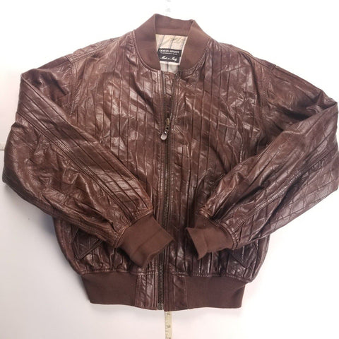 Vintage Made in Italy Brown Giorgio Armani Genuine Leather Mens sz L