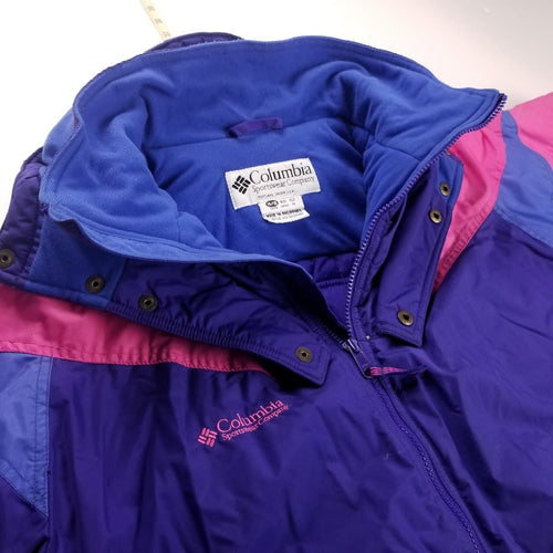 Vintage Columbia Purple Colorblocked Winter JacketWomens Sz S