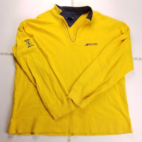 Vintage Y2K Hilfiger Athletics Yellow 1/4 Zip Jacket Mens sz XL