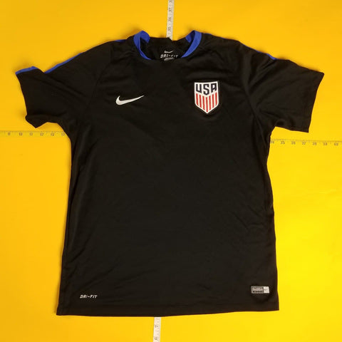 Nike Dri-Fit Team USA US Olympic Soccer Black T-Shirt Mens sz L