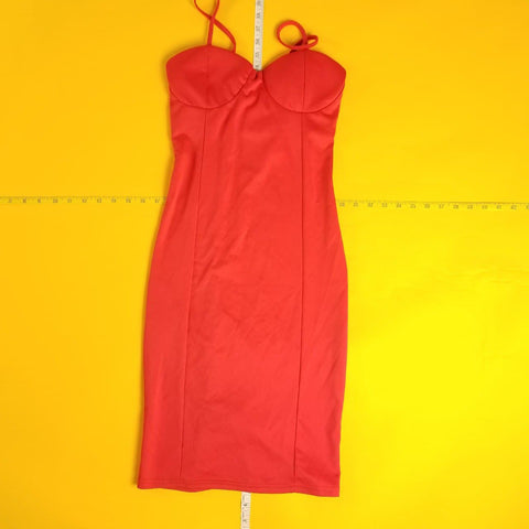 Red Lingerie Night Gown Dress Womens sz S