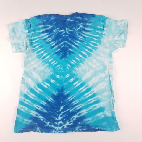 Vintage 90s Made in USA Blue Tie-Dye Shirt Mens sz XL
