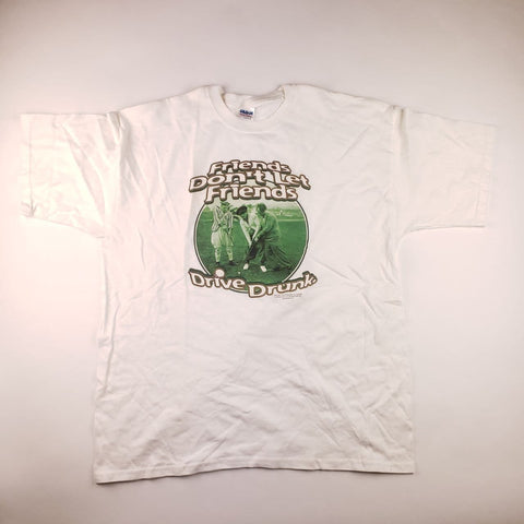 Vintage Y2K The Three Stooges White Graphic T-Shirt Mens sz XL