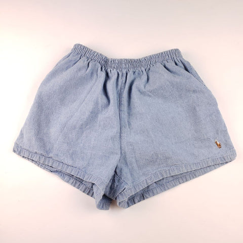 Vintage 90s Made in USA Polo Ralph Lauren Blue Shorts Womens sz M