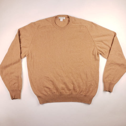 Saks Fifth Avenue Light Brown Cashmere Sweater Mens sz XL