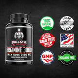 ARGININE 3000 - L Arginine (3150mg) Highest Pill Form Dose - Nitric Oxide Supplement for Muscle Growth, Vascularity & Endurance