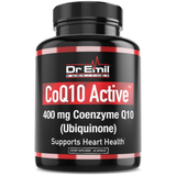 CoQ10 Active 400mg - Max Dosage with Enhanced Absorption - 100% Pure Coenzyme Q10 (Ubiquinone) - Vegan, Non-GMO & Gluten Free (60 Veggie Capsules)