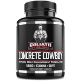 Concrete Cowboy - Male Enhancement Supplement for Libido & Testosterone Boost, Muscle Growth & Endurance (60 Veggie Capsules)