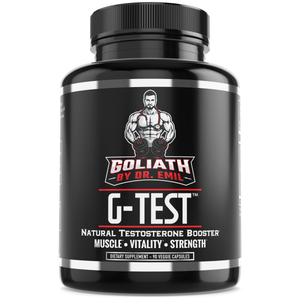 G-Test - Natural Testosterone Booster for Men - Supports Lean Muscle Growth, Energy, Recovery & Libido (90 Veggie Capsules)
