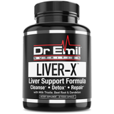 Liver-X Liver Cleanse & Detox with Milk Thistle, Dandelion Root & Powerful Antioxidants - Total Liver Aid & Support Supplement (60 Veggie Capsules)