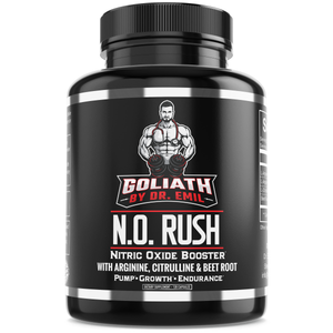 N.O. Rush Nitric Oxide Supplement with L Arginine, L Citrulline Malate & Beet Root - for Muscle Growth, Vascularity & Endurance