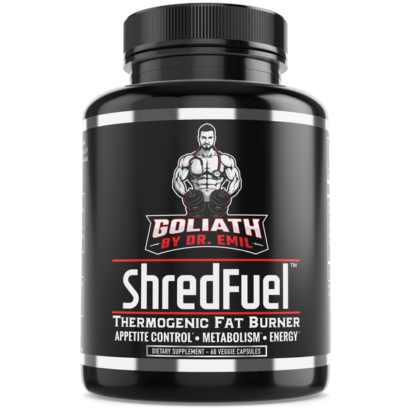 ShredFuel Thermogenic Fat Burner for Men & Women - Max Dose Weight Loss Supplement, Metabolism Booster & Appetite Suppressant