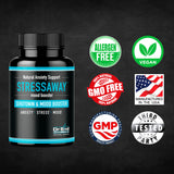 StressAway - Natural Anxiety Relief Supplement with Ashwagandha, 5-HTP & L Theanine - Supports Anti Anxiety, Stress Relief & Mood Boost (60 Veggie Capsules)