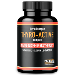 Thyro-Active Thyroid Support Supplement with Iodine - Metabolism, Energy & Mental Clarity - Doctor Formulated Complex for Underactive Thyroid (60 Capsules)