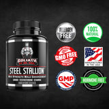 Goliath by Dr. Emil Steel Stallion - Male Enhancement Supplement - Libido and Testosterone Booster for Drive, Stamina, Muscle and Fat Loss (Yohimbe Enhanced Supere Blend)