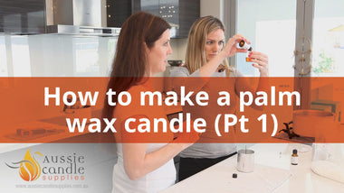 How to make a palm pillar candle
