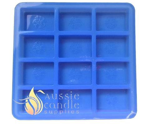 Flower rectangle 12-cavity mould