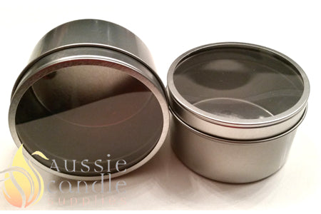 Candle Tin 225gm window lid