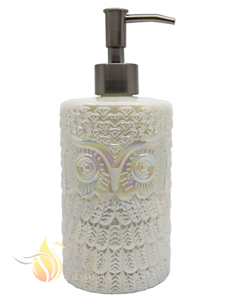 WHITE JADE OWL SOAP PUMP