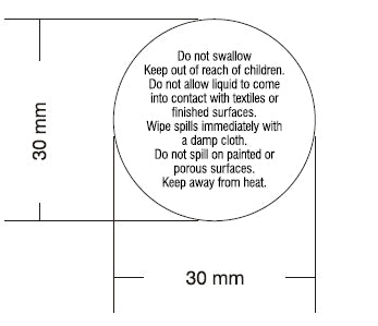 Reed Base Warning Label 3cm