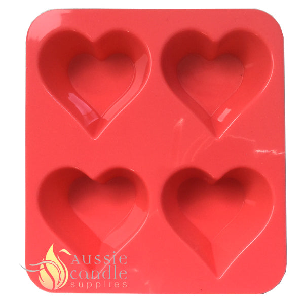 4-cavity heart shape mould