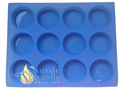 12-cavity round soap mould