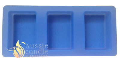 3-cavity rectangle soap mould
